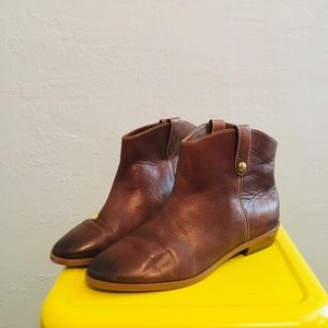 Mk brown leather boots